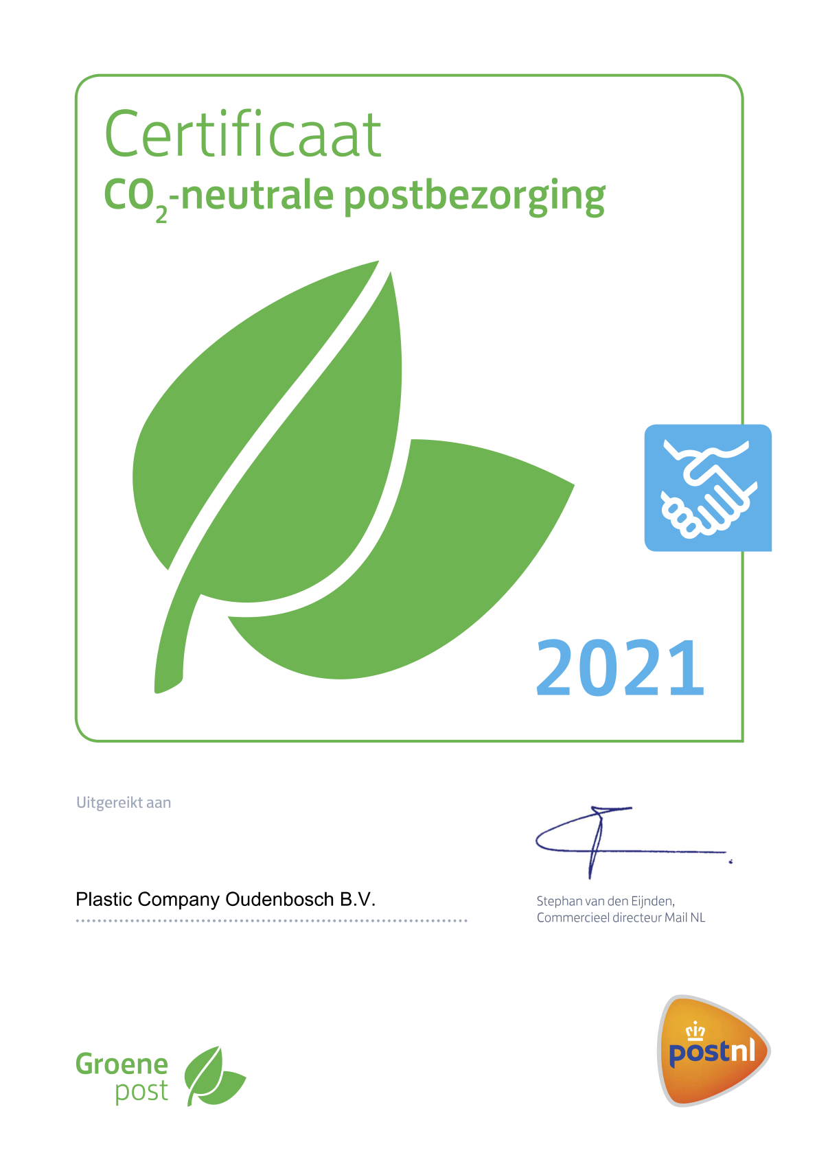 CO2 neutraal plastic company kunststofrecycling
